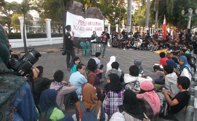 Selasa (28/10), aksi AAB  di kawasan Nol Kilometer Yogyakarta untuk memperingati Sumpah Pemuda.