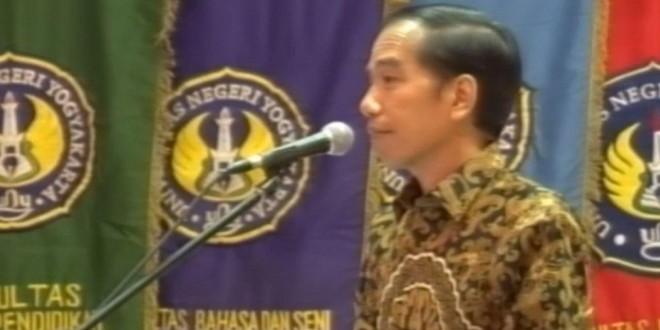 Presiden Republik Indonesia Ir. Joko Widodo saat menyampaikan pidato sambutan dalam pembukaan Konferensi Forum Rektor Indonesia, Jumat (29/1). (Dok. Istimewa)