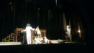 Pementasan Bunt Theater di Taman Budaya Yogyakarta, Kamis (12/5).