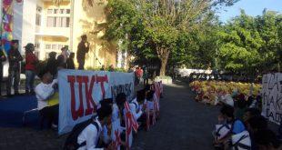 Aksi mahasiswa baru UIN Suka menolak UKT. Aksi tersebut bertema Tolak Uang Kuliah Tunggal, Wujudkan Pendidikan Gratis, Bermutu dan Merakyat.